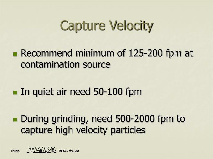 Capture Velocity