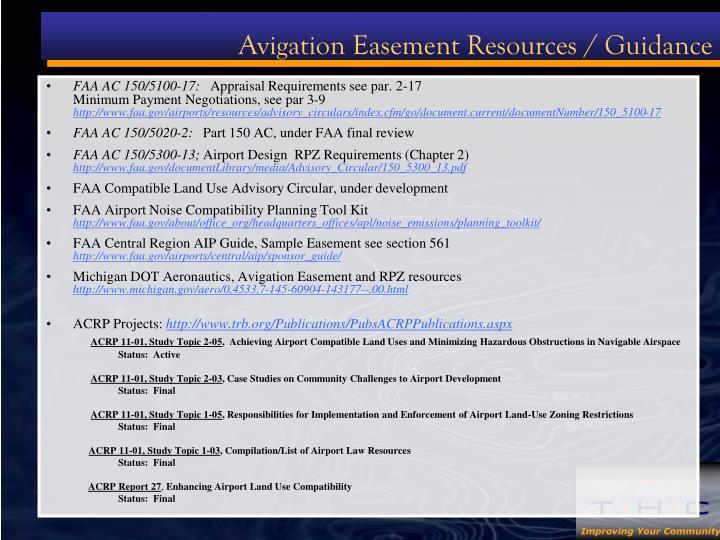 Avigation Easement Resources / Guidance