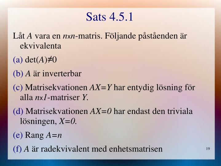 Sats 4.5.1