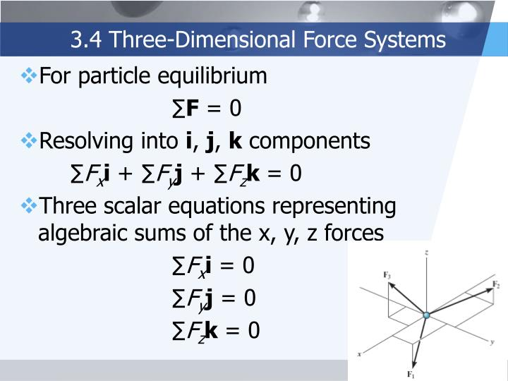 3.4 Three-Dimensional Force Systems