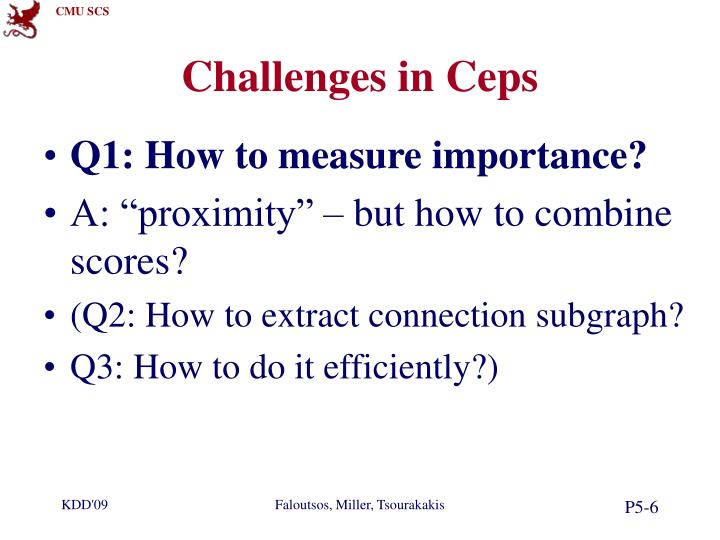 Challenges in Ceps