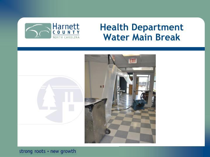 Health Department Water Main Break