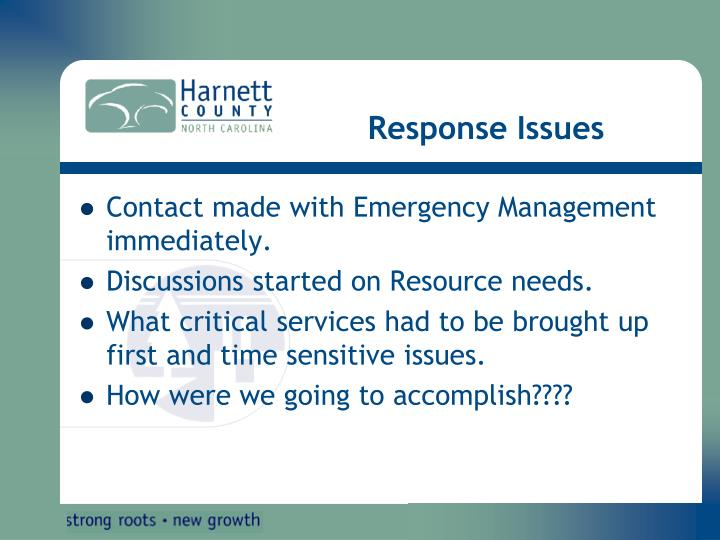 Response Issues