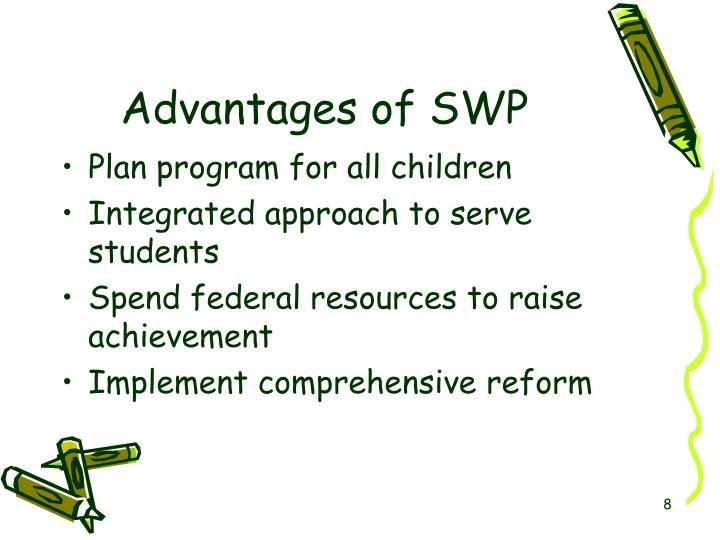 Advantages of SWP