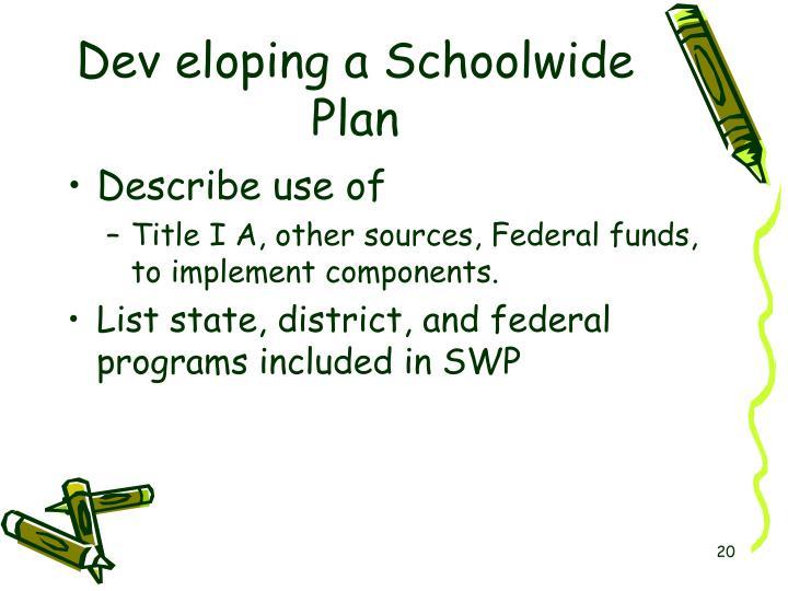 Dev eloping a Schoolwide Plan