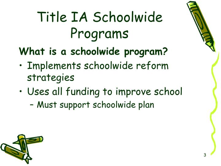 Title IA Schoolwide Programs
