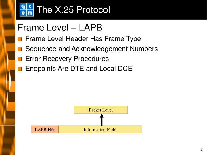 The X.25 Protocol