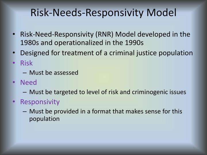 Risk-Needs-