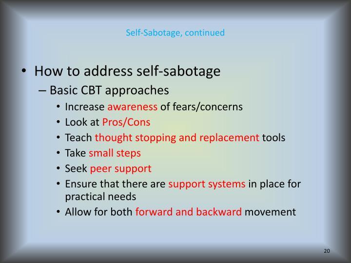 Self-Sabotage,