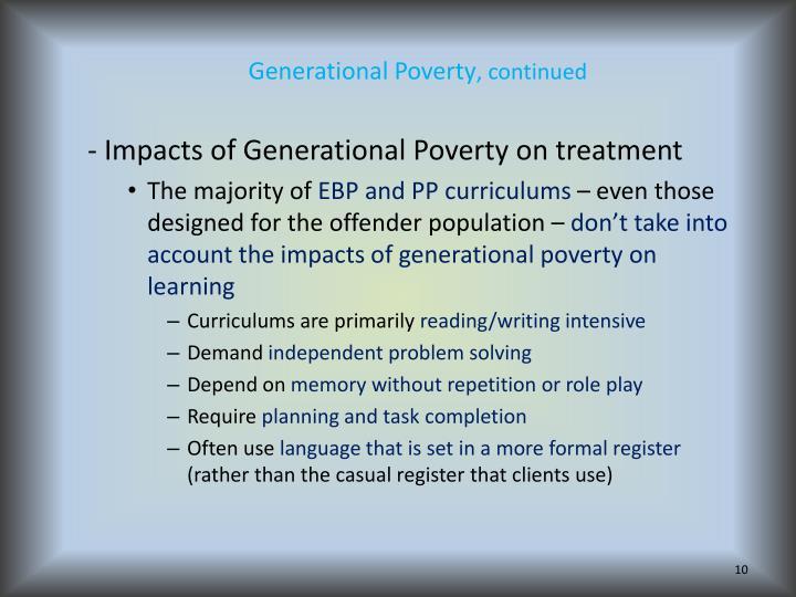 Generational Poverty