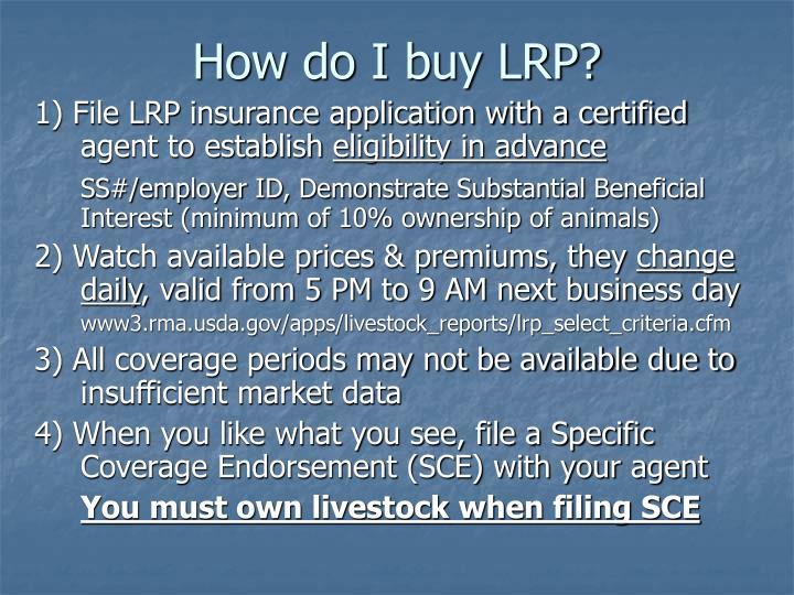 How do I buy LRP?