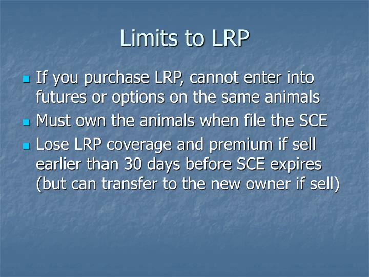 Limits to LRP