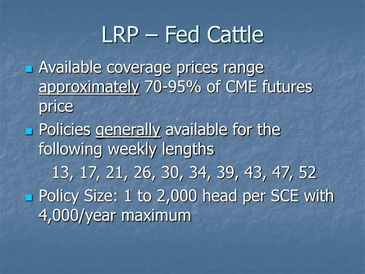 LRP – Fed Cattle