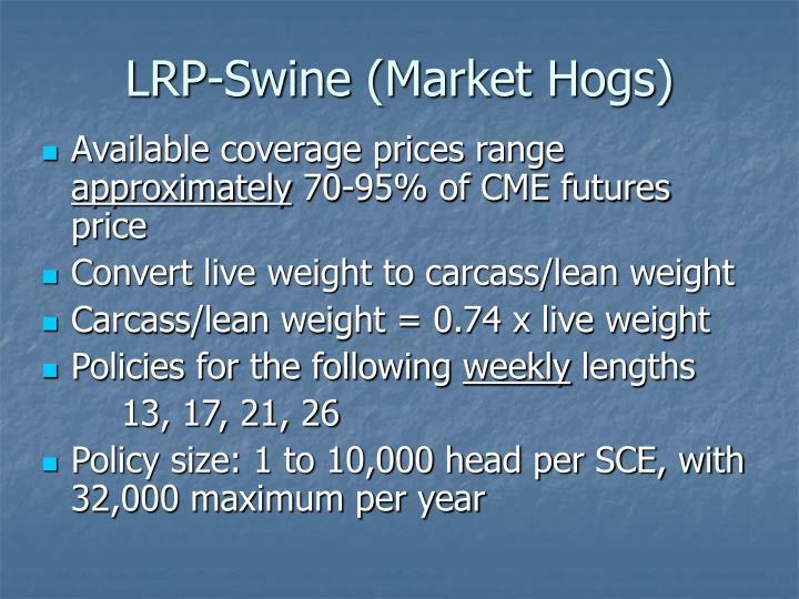 LRP-Swine (Market Hogs)