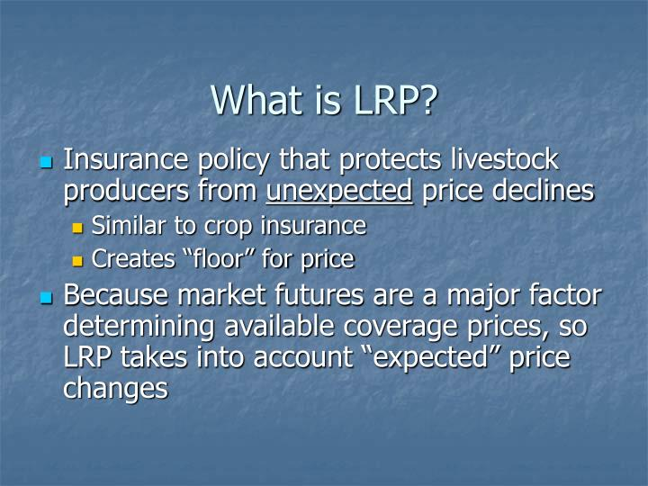 What is LRP?