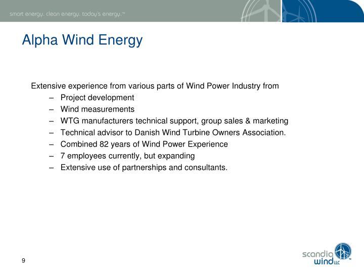 Alpha Wind Energy