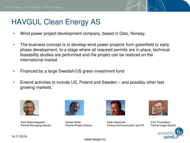HAVGUL Clean Energy AS