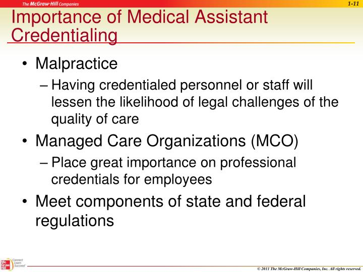 Importance of Medical Assistant Credentialing