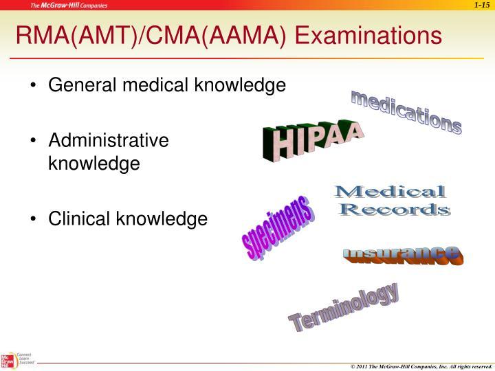 RMA(AMT)/CMA(AAMA) Examinations
