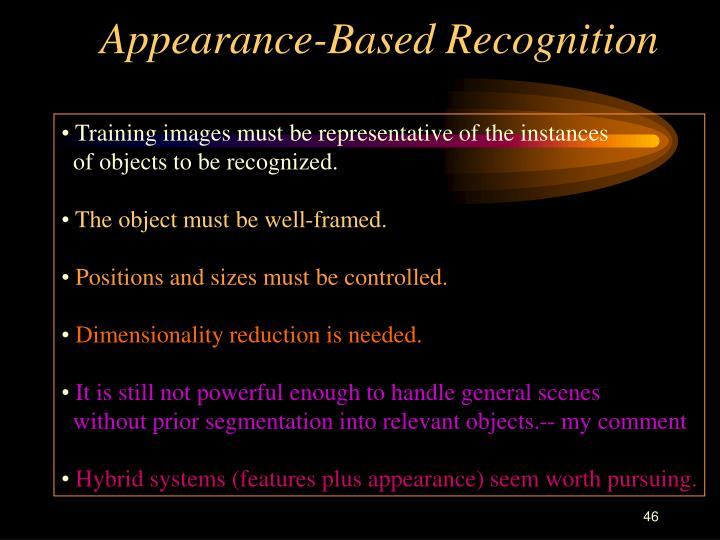 Appearance-Based Recognition