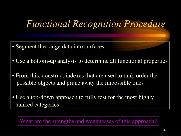 Functional Recognition Procedure