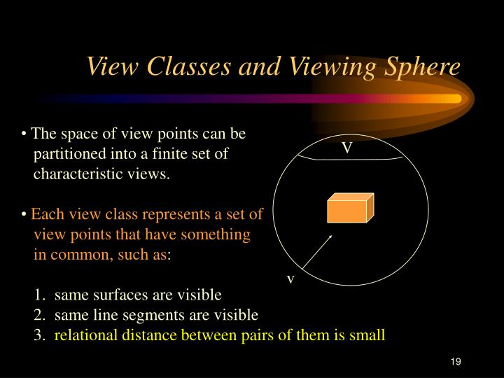 View Classes and Viewing Sphere