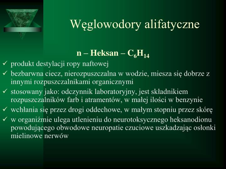 Węglowodory alifatyczne