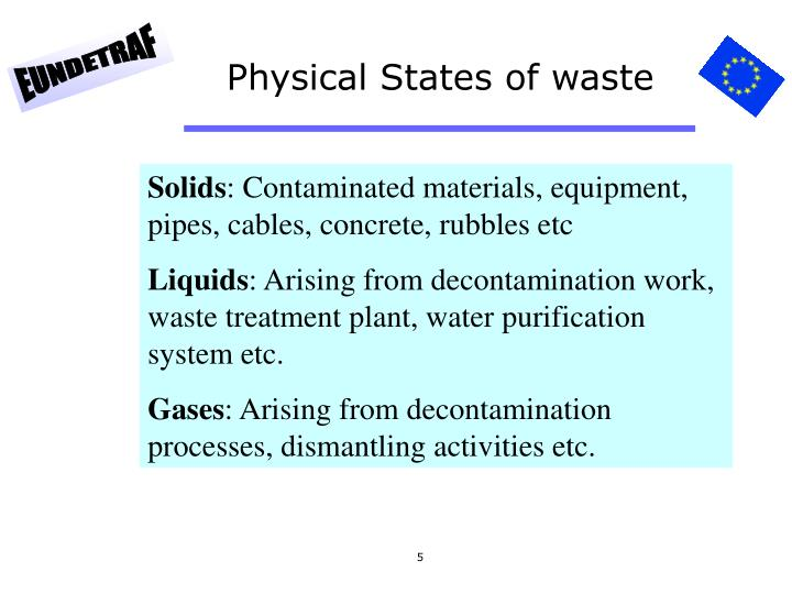 Physical States of waste