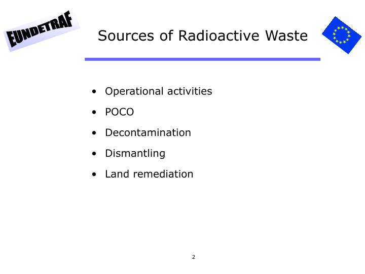 Sources of Radioactive Waste
