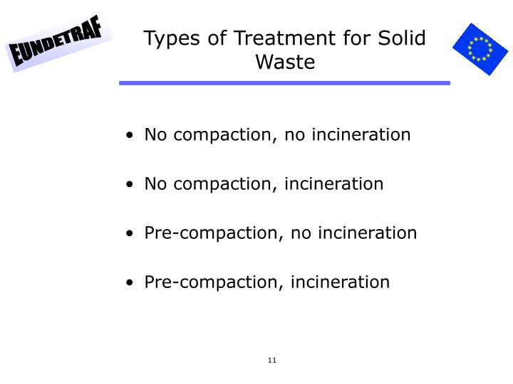 Types of Treatment for Solid Waste