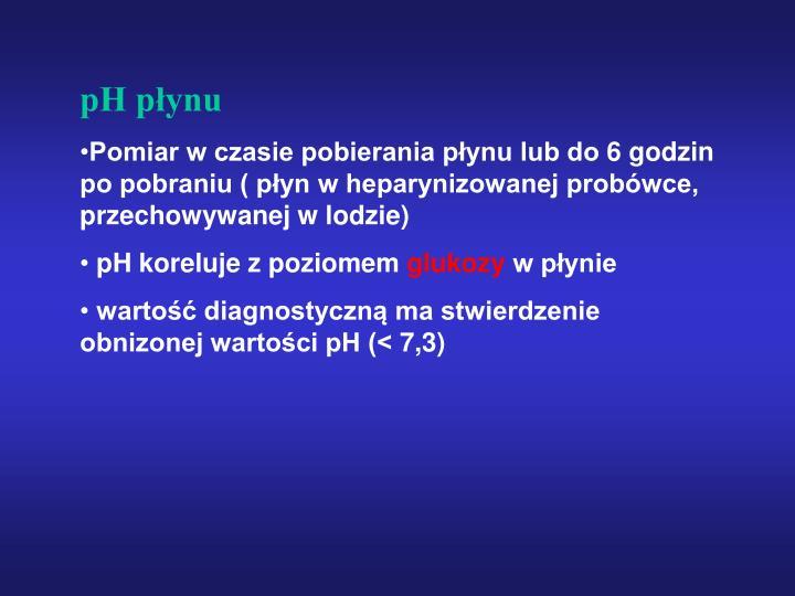 pH płynu