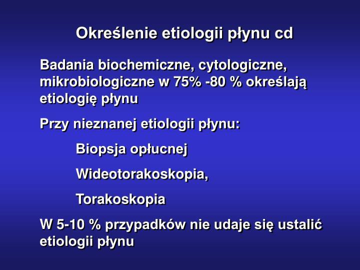 Określenie etiologii płynu cd