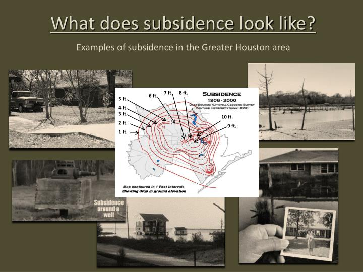 What does subsidence look like?