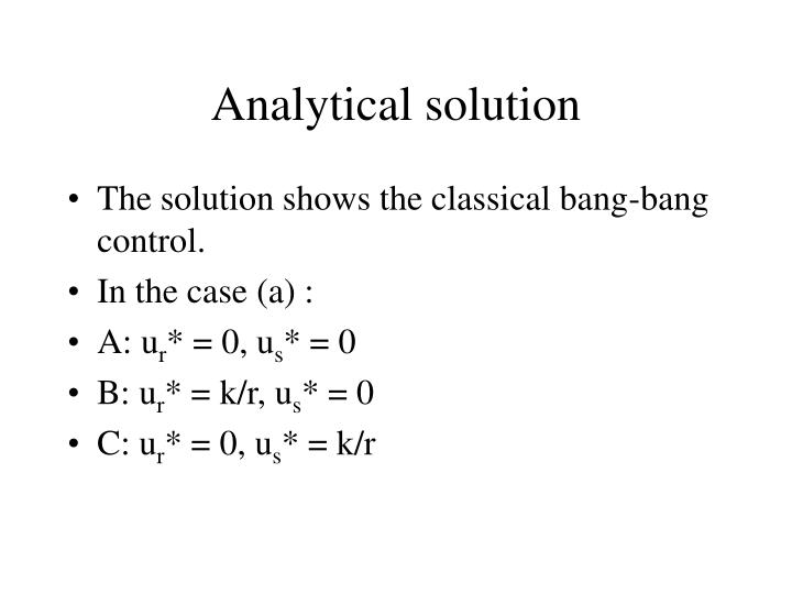 Analytical solution