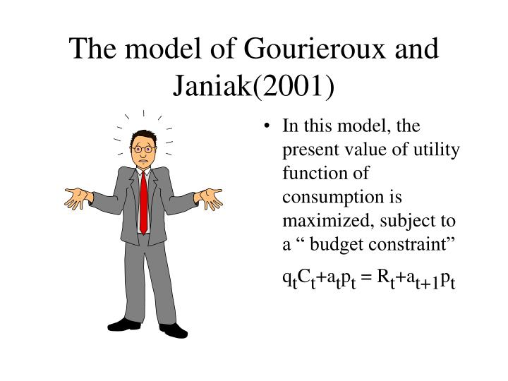 The model of Gourieroux and Janiak(2001)