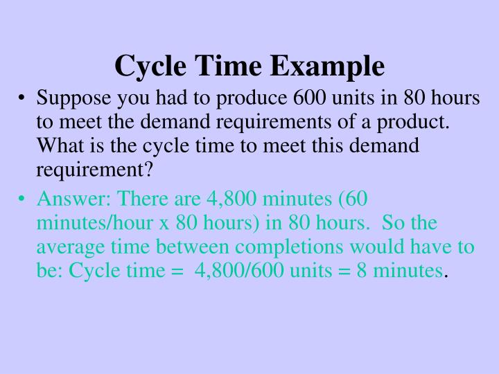 Cycle Time Example
