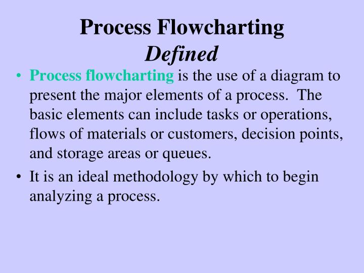 Process Flowcharting