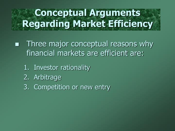 Conceptual Arguments Regarding Market Efficiency