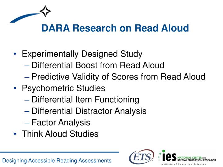 DARA Research on Read Aloud