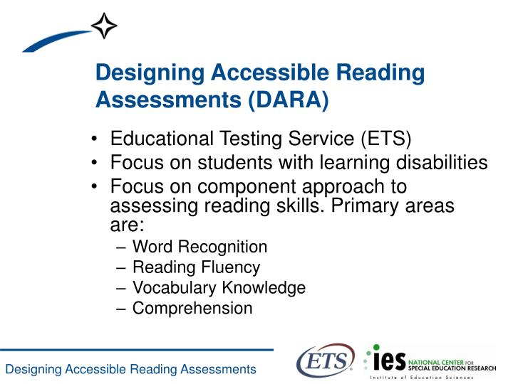 Designing accessible reading assessments dara