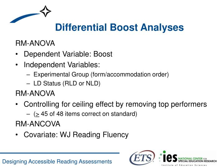 Differential Boost Analyses