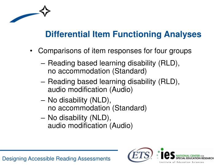 Differential Item Functioning Analyses