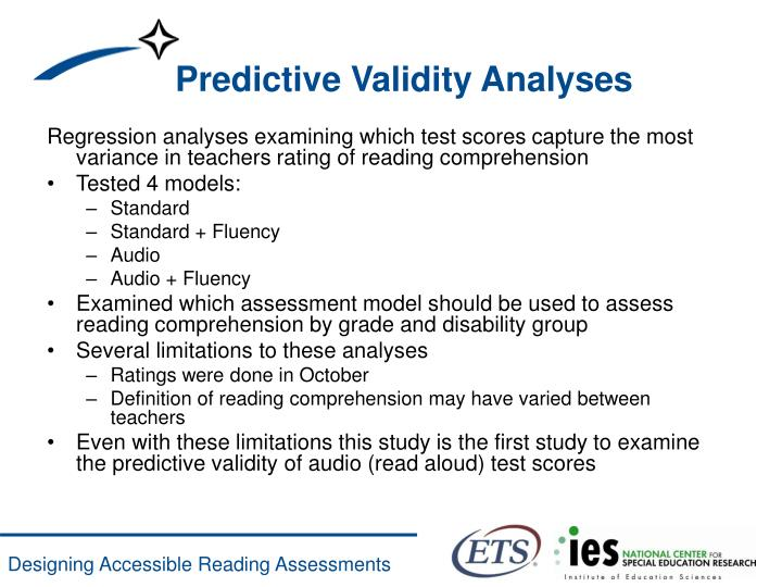 Predictive Validity Analyses