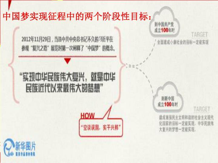 中国梦实现征程中的两个阶段性目标: