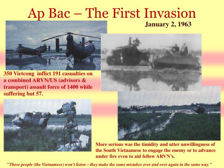 Ap Bac – The First Invasion