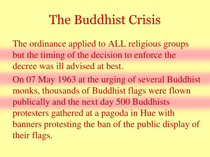 The Buddhist Crisis