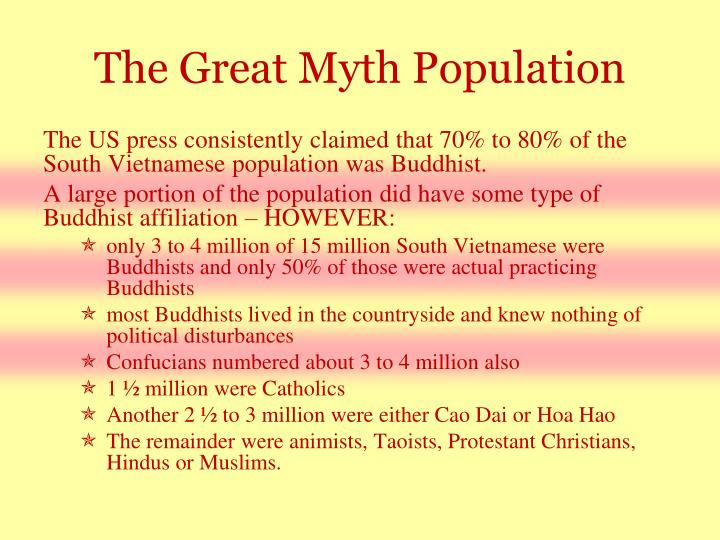 The Great Myth Population