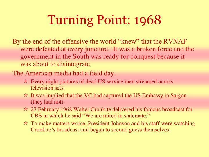 Turning Point: 1968