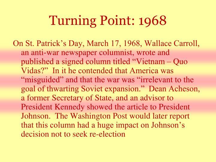 Turning Point: 1968