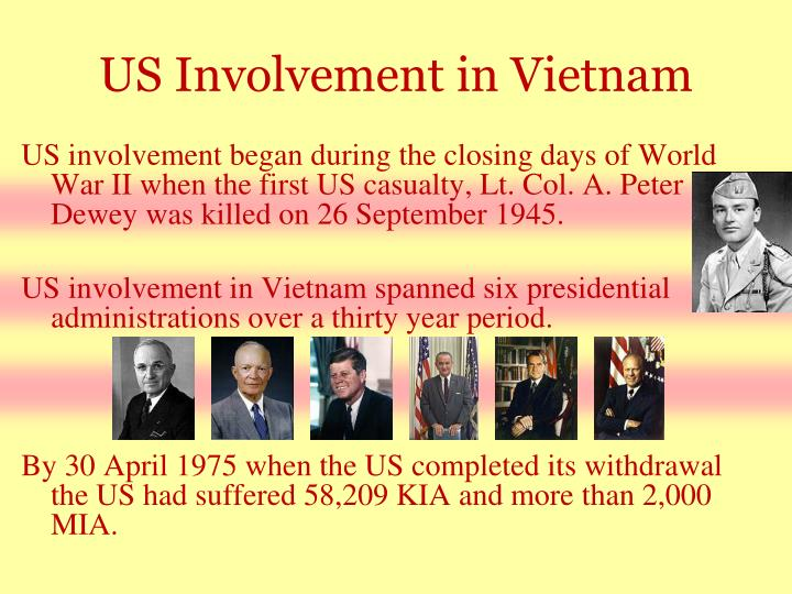 US Involvement in Vietnam